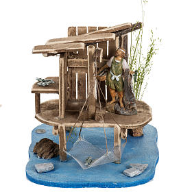 Casas, ambientaciones y tiendas: Palafito de pescador para el pesebre 12cm, Fontanini