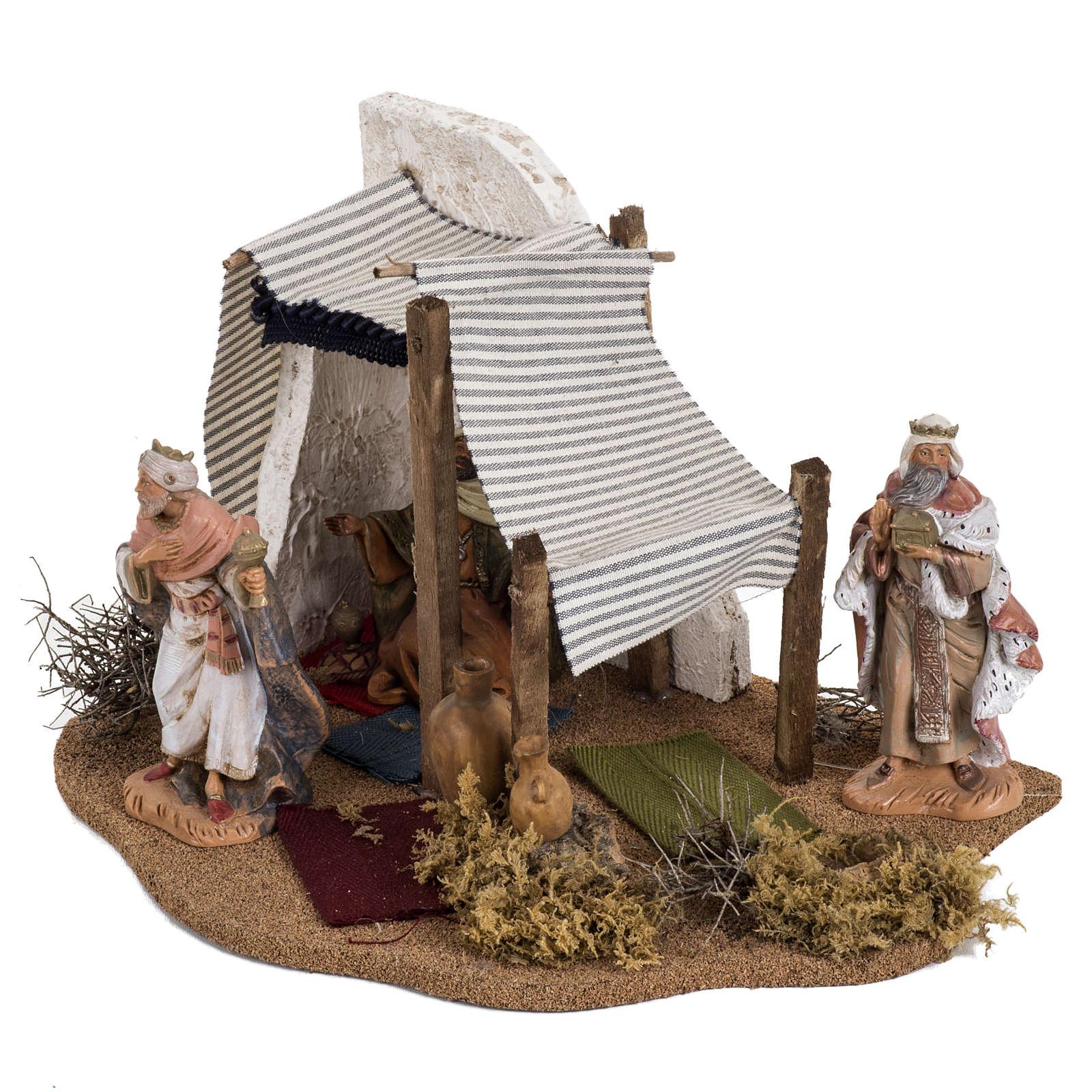 Tente des Rois Mages crèche Noel Fontanini: village 12 cm 4