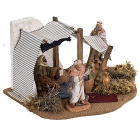 Tente des Rois Mages crèche Noel Fontanini: village 12 cm s2