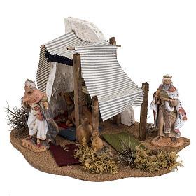 Tente des Rois Mages crèche Noel Fontanini: village 12 cm s3