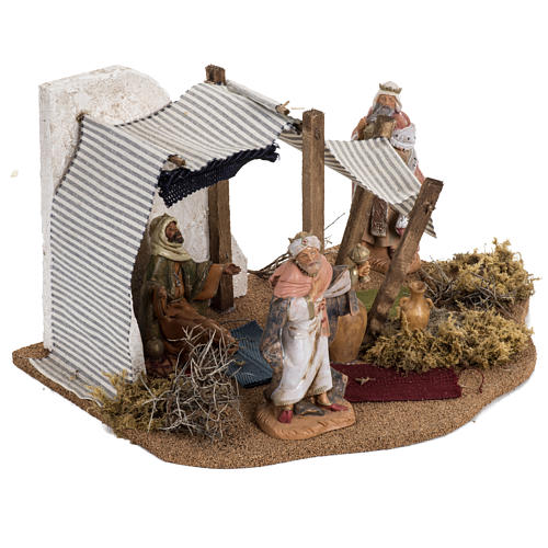 Tente des Rois Mages crèche Noel Fontanini: village 12 cm 2