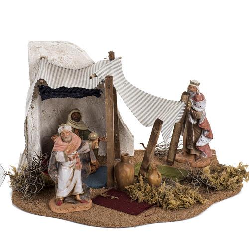 Tenda Re Magi: ambientazione Fontanini per villaggi cm 12 1