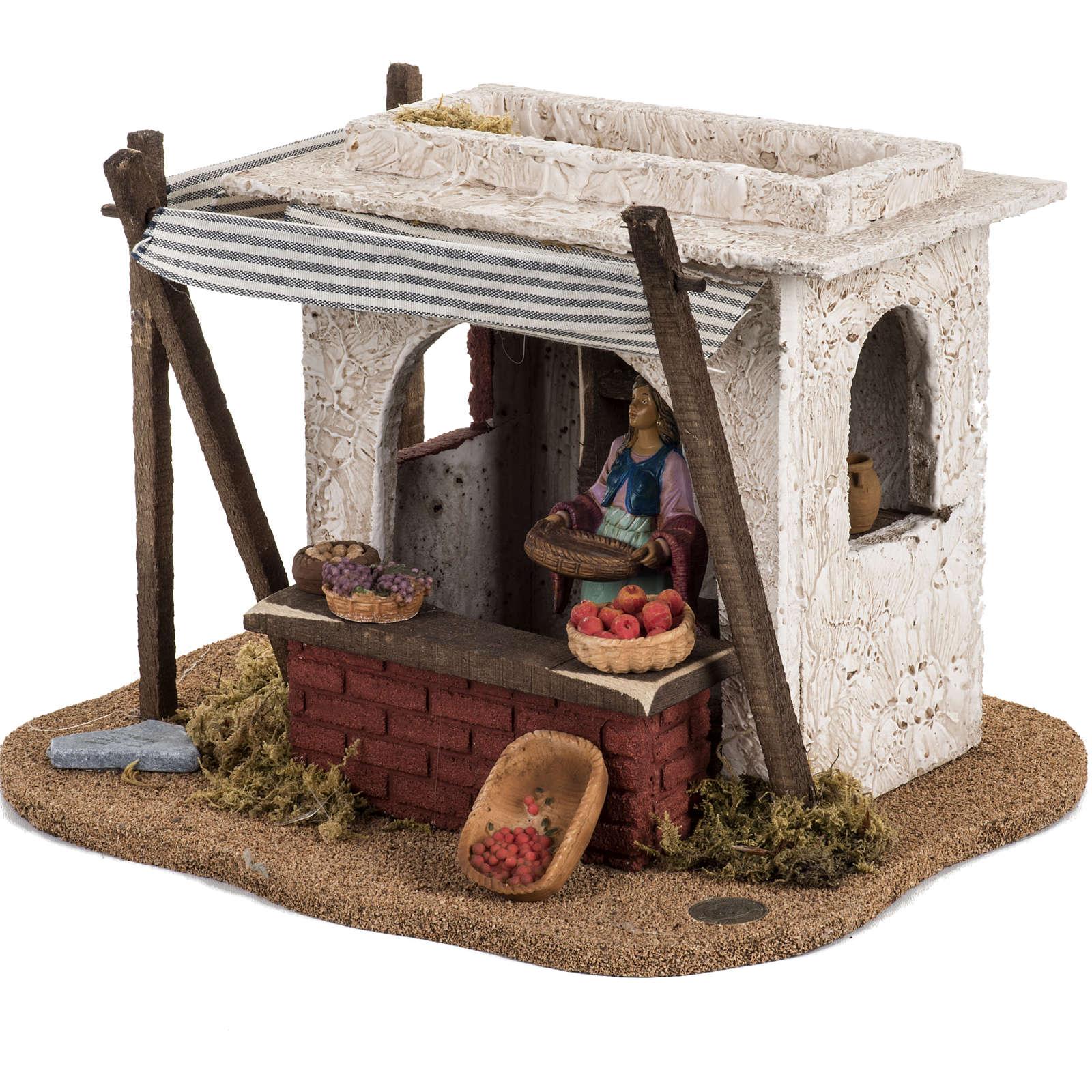Fontanini Nativity Scene resin figurine fruits seller 12 cm 4