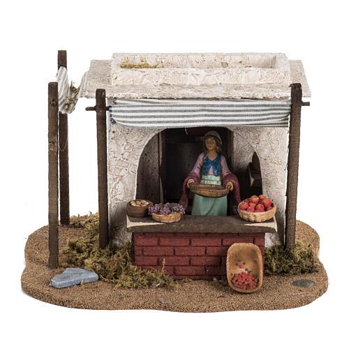 Fontanini Nativity Scene resin figurine fruits seller 12 cm 1