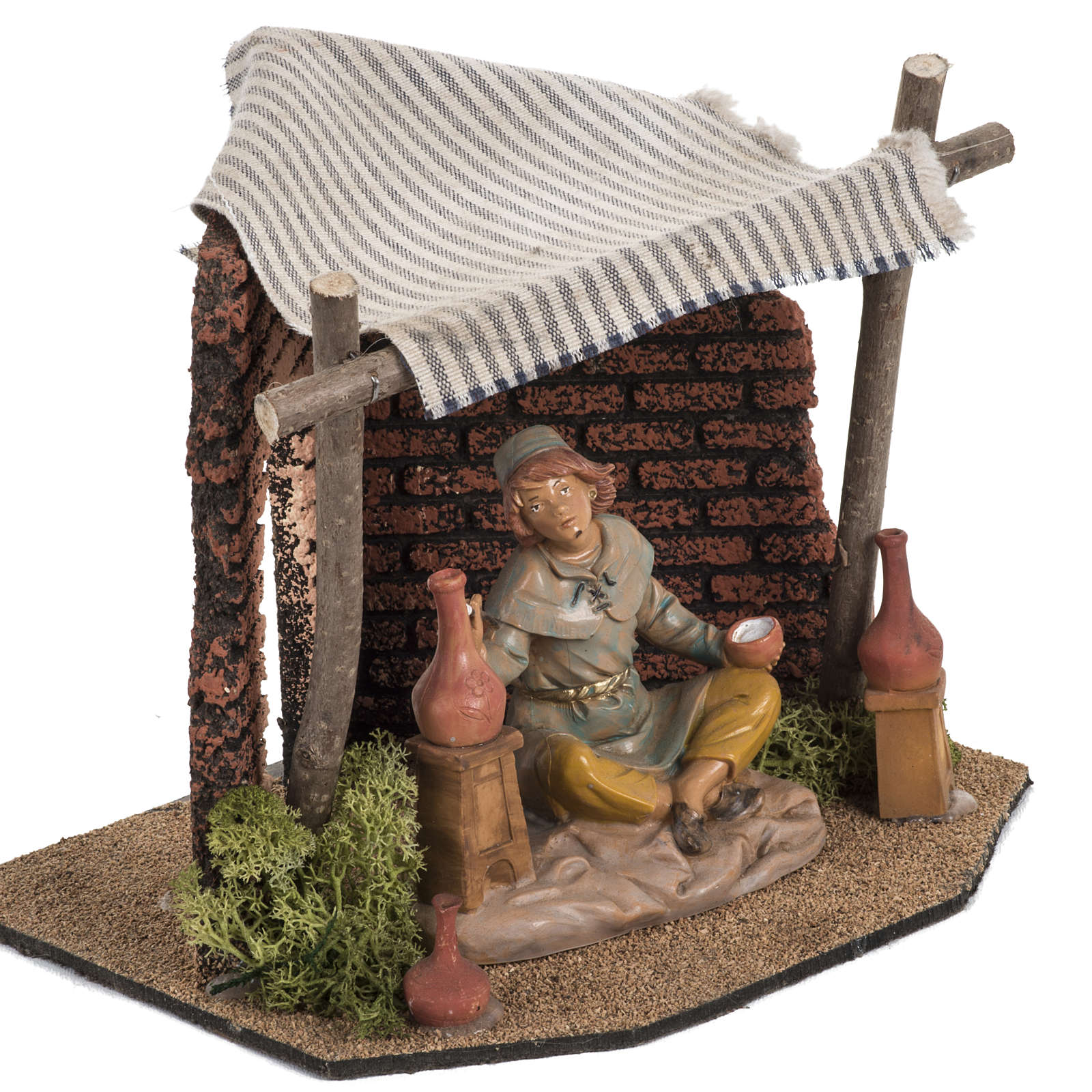 Atelier du décorateur crèche Fontanini village 12 cm 4