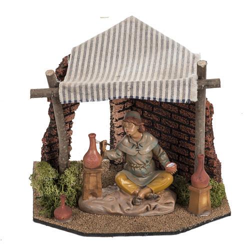 Atelier du décorateur crèche Fontanini village 12 cm 1