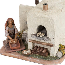 Fornaia con forno presepe Fontanini villaggio cm 12 s3
