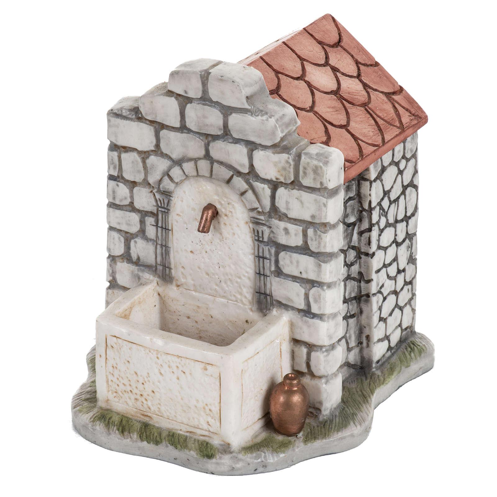 Fontana elettrica Fontanini mattoni villaggio cm 12 4