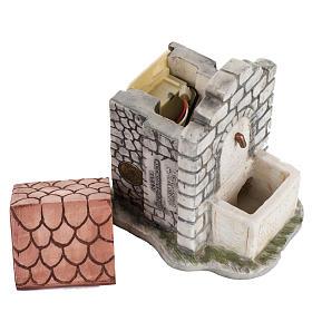 Fontana elettrica Fontanini mattoni villaggio cm 12 s3