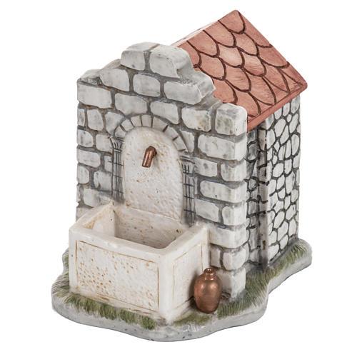Fontana elettrica Fontanini mattoni villaggio cm 12 1