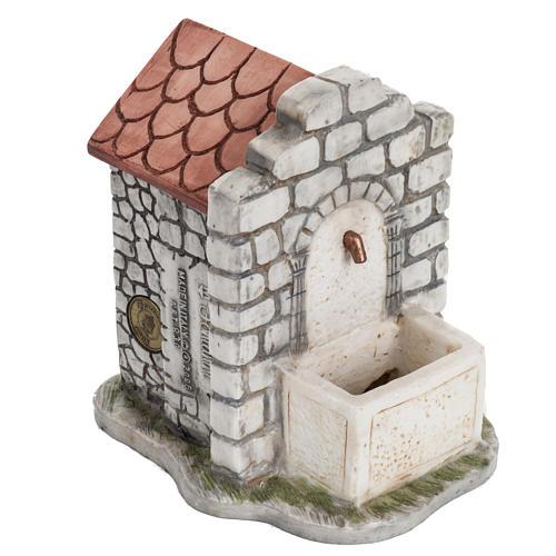 Fontana elettrica Fontanini mattoni villaggio cm 12 2