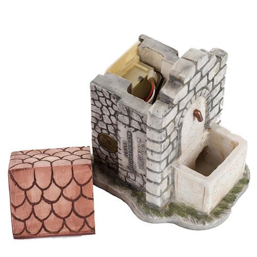 Fontana elettrica Fontanini mattoni villaggio cm 12 3