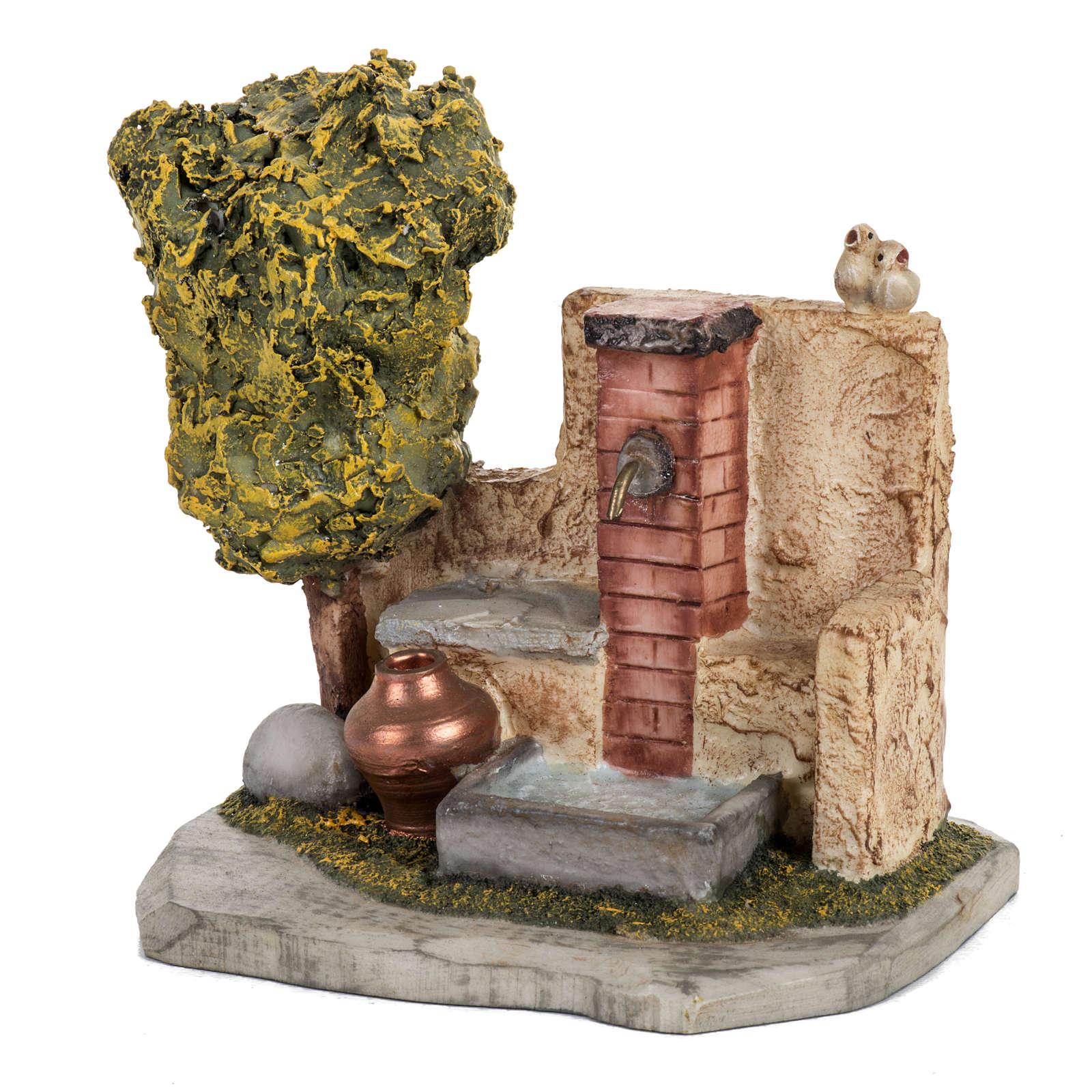 Trinkbrunnen Krippe Fontanini für Dorf 12 cm 4