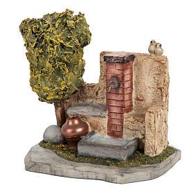 Trinkbrunnen Krippe Fontanini für Dorf 12 cm s2