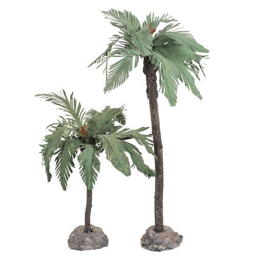 Par de palmeras para pesebre, Fontanini 12cm 1