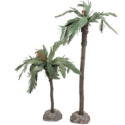 Par de palmeras para pesebre, Fontanini 12cm 2