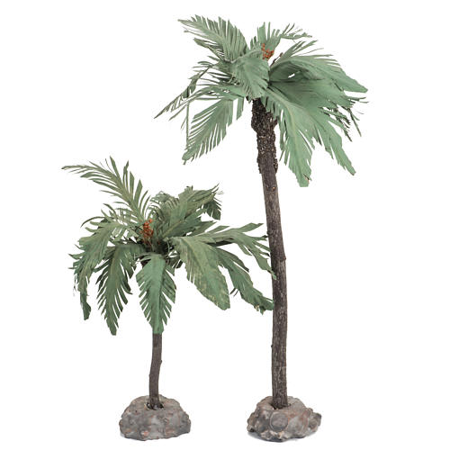 Coppia palme presepe Fontanini villaggio cm 12 1