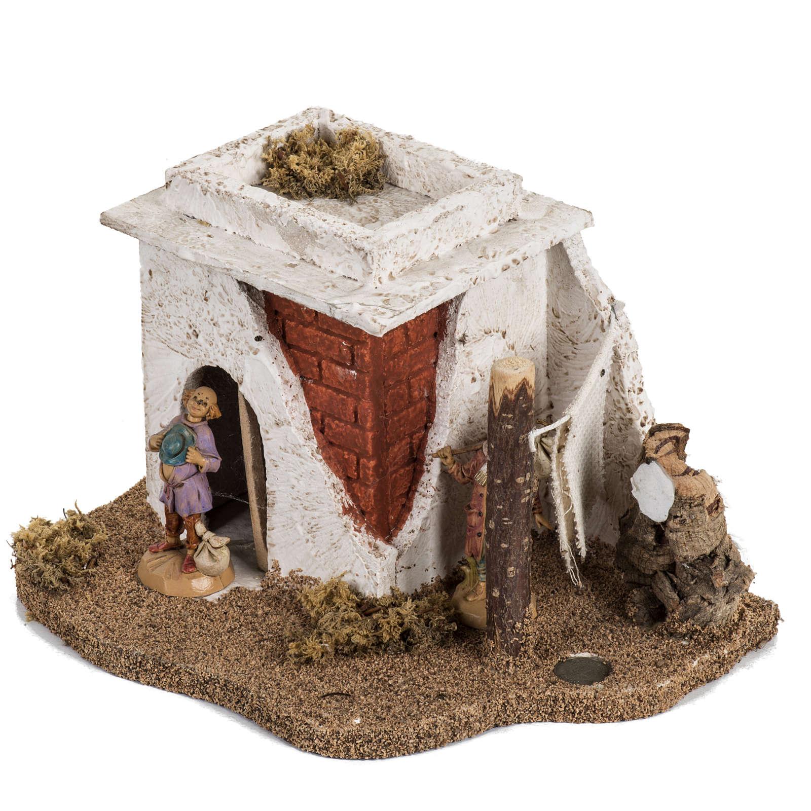 Maison en style arabe crèche Noel Fontanini 6,5 cm 4