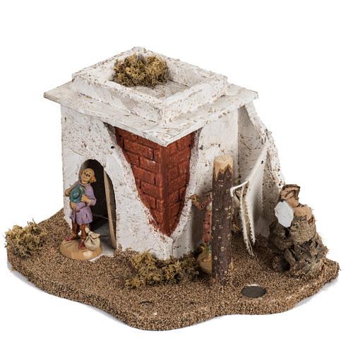 Maison en style arabe crèche Noel Fontanini 6,5 cm 2