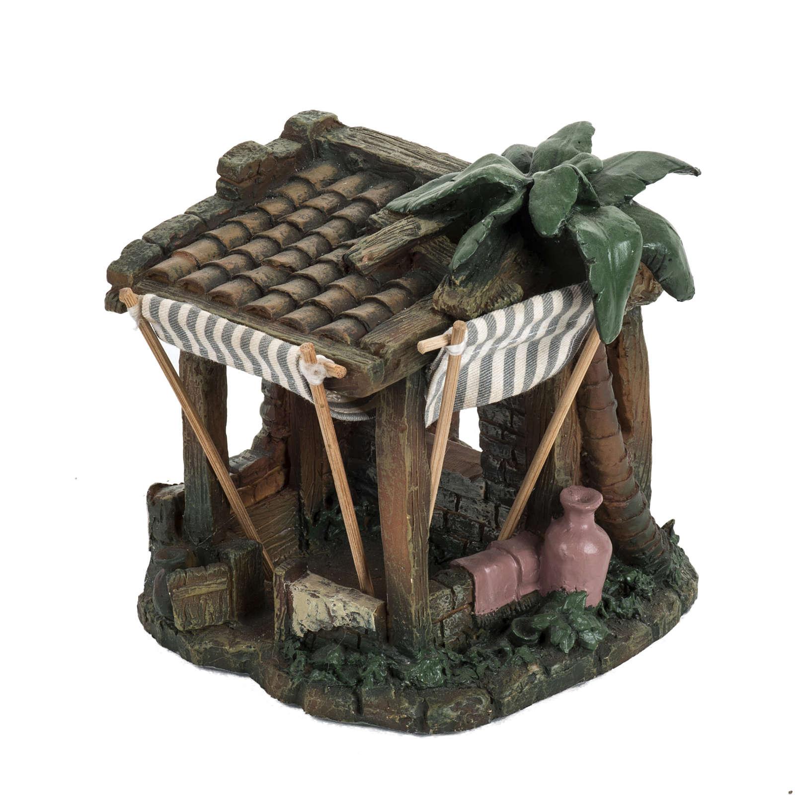 Casa con tende per villaggio Fontanini cm 6.5 4
