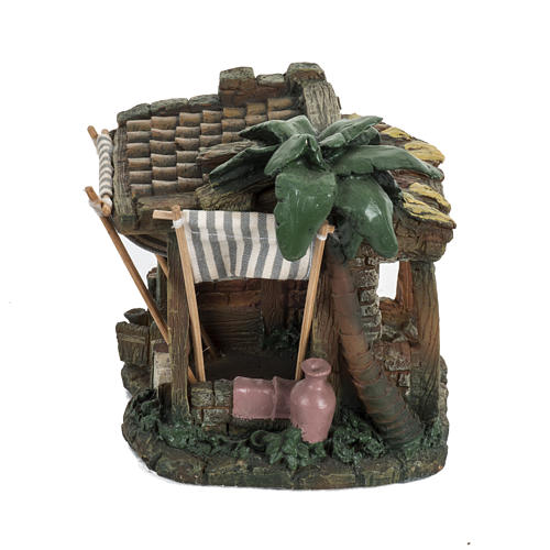 Casa con tende per villaggio Fontanini cm 6.5 1