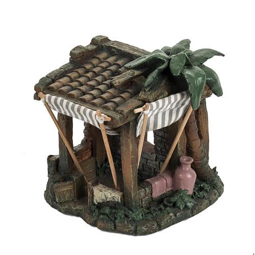 Casa con tende per villaggio Fontanini cm 6.5 2