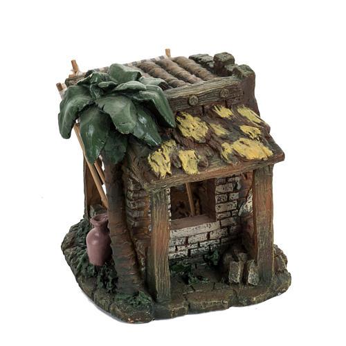 Casa con tende per villaggio Fontanini cm 6.5 3