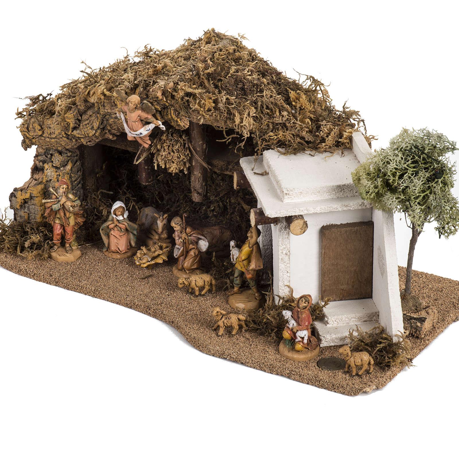 Capanna con casa araba presepe Fontanini 6.5 cm 4