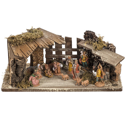 Fontanini Nativity Scene stable 6.5 cm 1