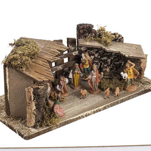 Fontanini Nativity Scene stable 6.5 cm 2