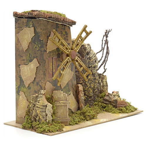 Wind mill for nativities measuring 18x15cm 2