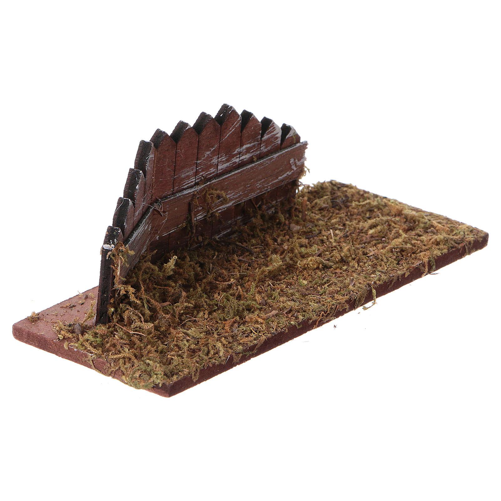 Staccionata in legno per presepe cm 15x6 4