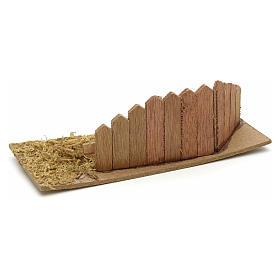 Staccionata in legno per presepe cm 15x6 s2