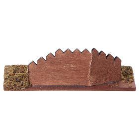 Staccionata in legno per presepe cm 15x6 s4