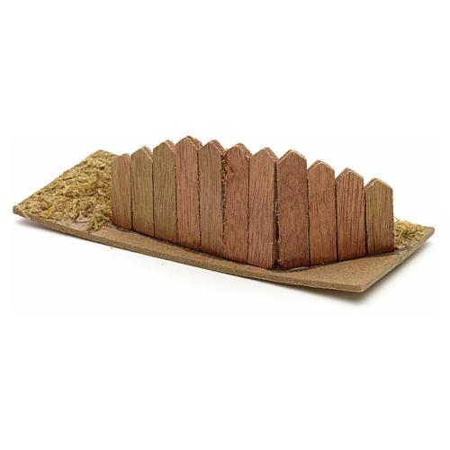 Staccionata in legno per presepe cm 15x6 1
