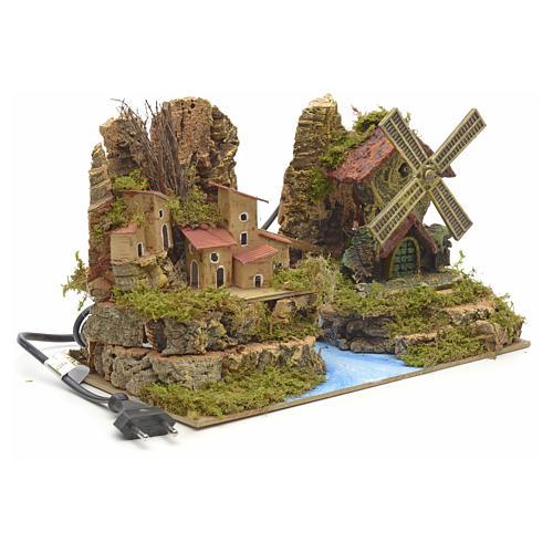 Moulin à vent de crèche avec moteur cm 28x15 3
