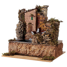 Water mill with pump 25x14cm s3