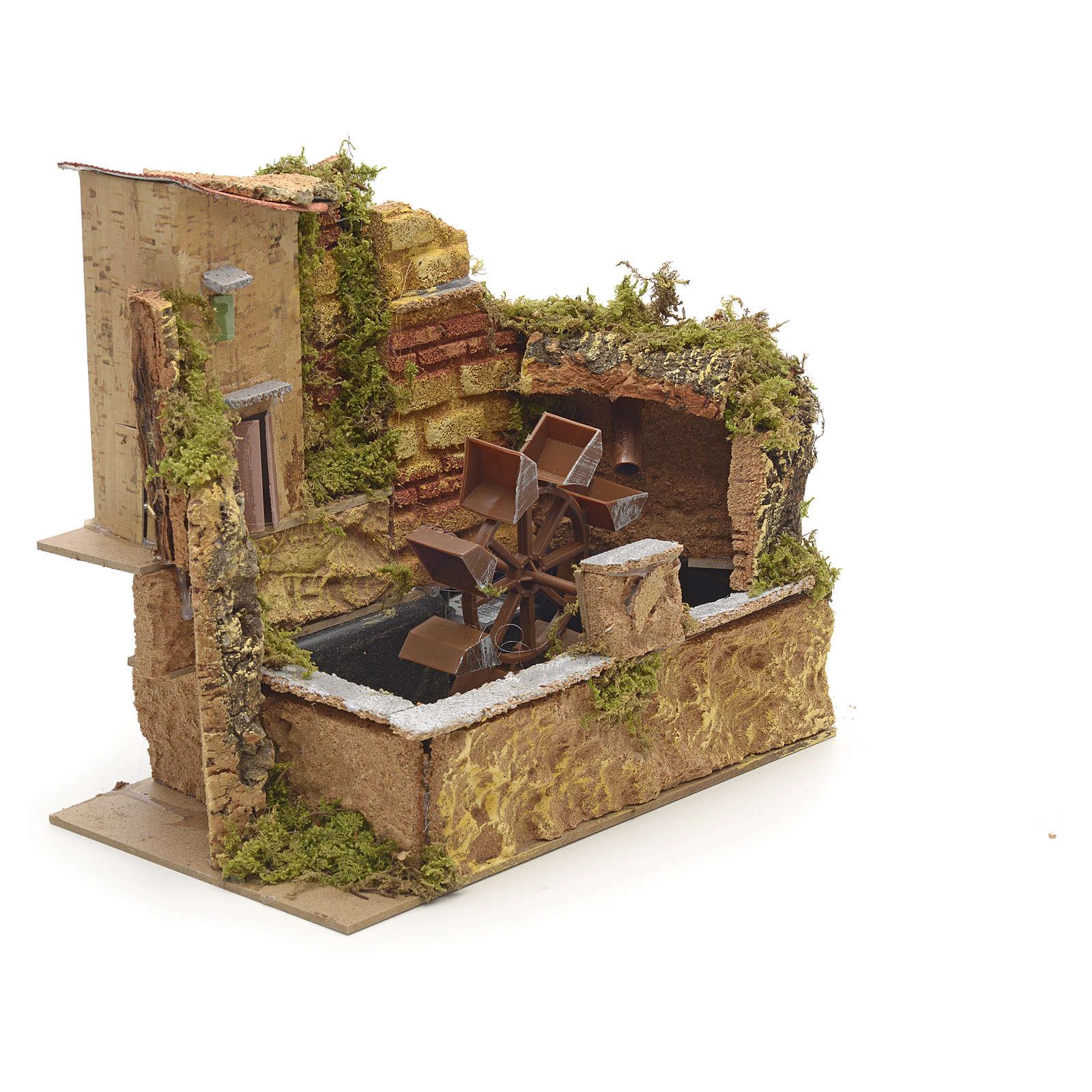 Moulin à eau de crèche avec pompe cm 25x14 4