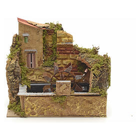 Water mill with pump 25x14cm s1