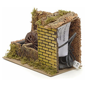 Water mill with pump for nativities 25x14x20cm s3