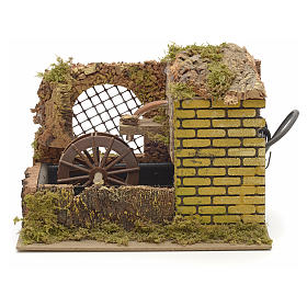 Water mill with pump for nativities 25x14x20cm s1