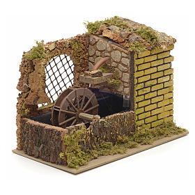 Water mill with pump for nativities 25x14x20cm s2