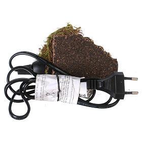 Feu de braise pour crèche ampoule effet feu 10x6 cm s4