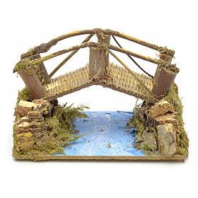 Puente sobre río 15x10 cm s1