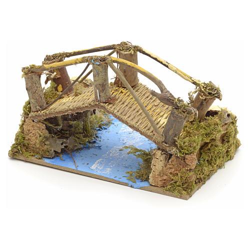 Puente sobre río 15x10 cm 3
