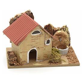 Décor crèche maisons en carton 10x6 cm s1