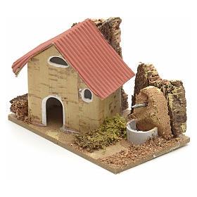 Décor crèche maisons en carton 10x6 cm s2