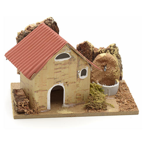 Décor crèche maisons en carton 10x6 cm 1