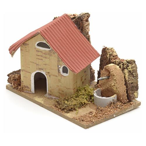 Décor crèche maisons en carton 10x6 cm 2