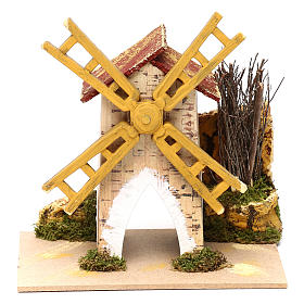 Fake wind mill for nativities 15x10cm s3